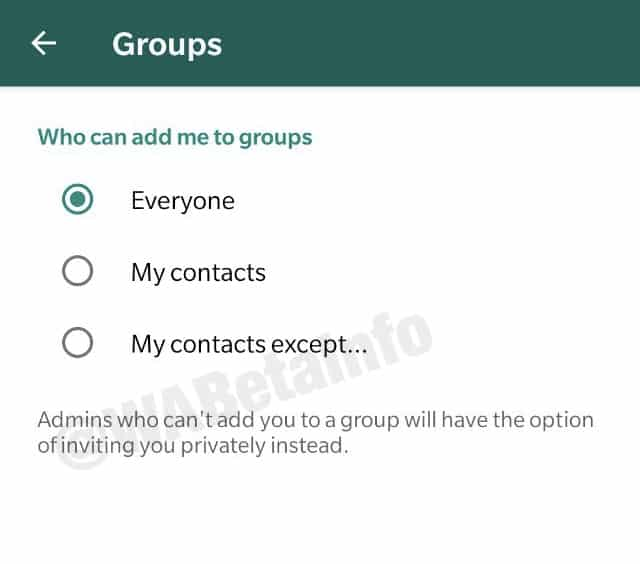WhatsApp Beta Update Added New Privacy Options For Groups