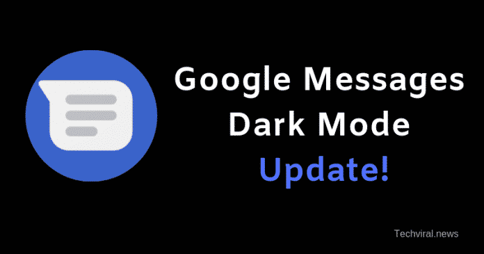 Google Messages Dark Mode