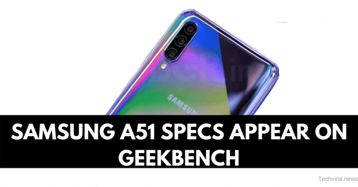 Samsung A51 Specs Appear on Geekbench