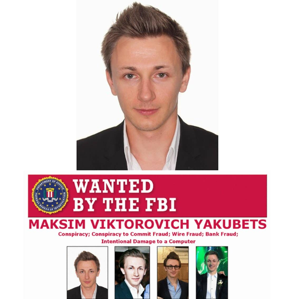 Wanted Poster for Maksim Yakubets