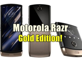 Motorola Razr 2019 Foldable Phone To Get A Gold Edition!