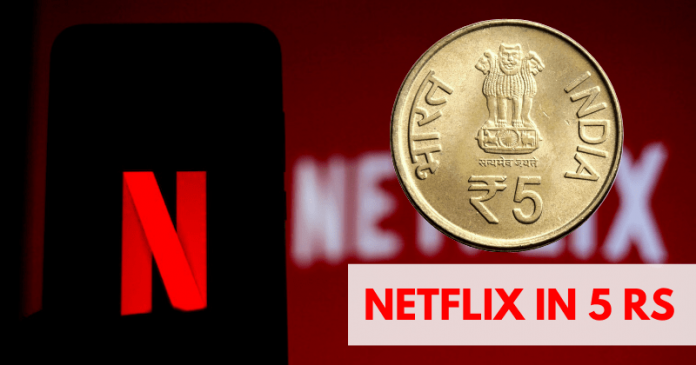 Netflix is Testing a New Promo Offer At Rs 5 Per Month