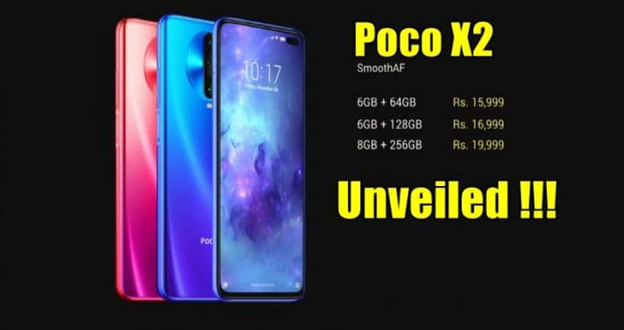 Poco X2 With 120Hz Refresh Rate Display And Quad-Cameras Debuts In India