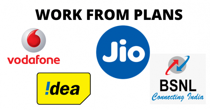 Work From Home Data Plans By Jio, BSNL, And Vodafone