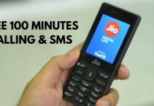 Reliance Jio Provides Free 100 minutes Calling & SMS Service Till April 17