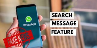 Whatsapp Search Message Feature Launched To Verify Fake News On Web