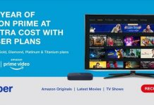 Amazon Prime Subscription Free for One Year for Jio Fiber Users