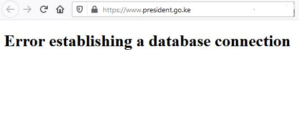 Website of President of Kenya Down