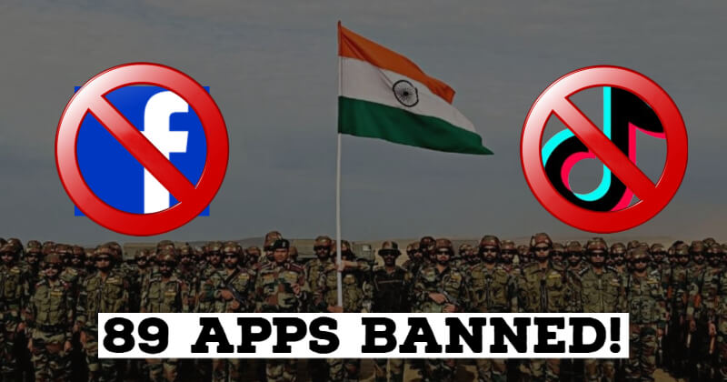 Facebook, TikTok and 87 Other Apps Banned by the Indian Army