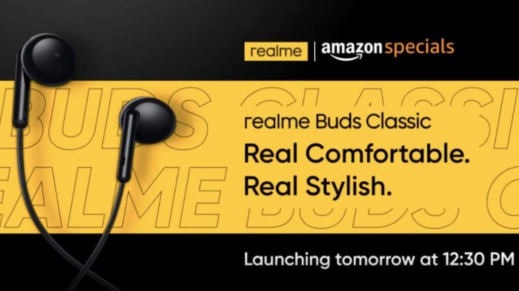 Realme Buds Classic Earphones to Launch on 18 August