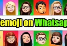 Memoji Stickers on WhatsApp Web